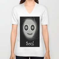 soul V-neck T-shirts featuring Soul by LCMedia