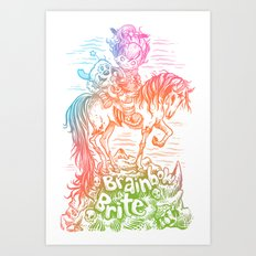 Brainbow Brite.  Art Print