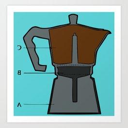cafetière Art Print