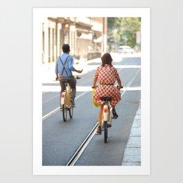 Bikers in Milan, Italy Art Print