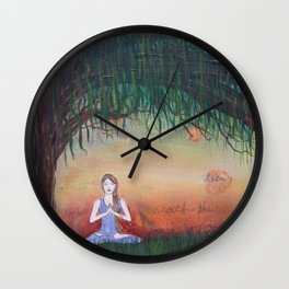 Beneath the Willow Wall Clock