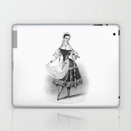Female Ballet Dancer Vintage Print Laptop & iPad Skin