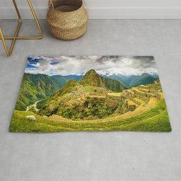 Machu Picchu Ancient Mountain City Rug
