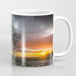 Lonely Tree In A Drought Field At Sunset Ultra HD Coffee Mug