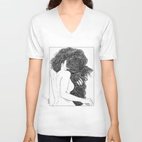 apollonia V-neck T-shirts featuring asc 590 - Le peigne (Combing her hair) by From Apollonia with Love