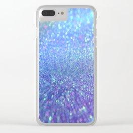 PINK PURPLE GLITTER Clear iPhone Case