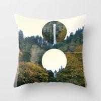 portlandia Throw Pillows featuring Waterfall Sky by Olga Perelman