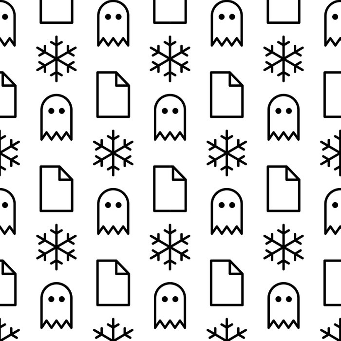 Paper, Snow, A Ghost. Comforters