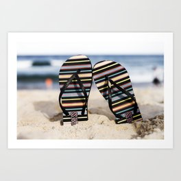 Flip Flop Thong Art Print