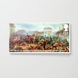 The defence of La Haye Sainte Metal Print