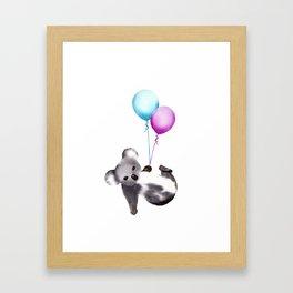 Koala With Baloons Framed Art Print