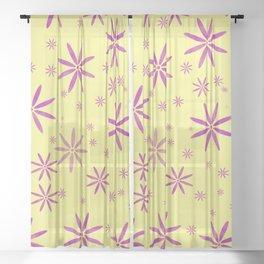 Purple flowers Sheer Curtain