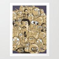 meme Art Prints featuring Meme Color by neicosta
