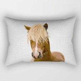 Horse - Colorful Rectangular Pillow