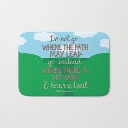 Leave A Trail Bath Mat