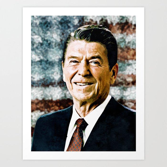 The Great President Ronald Reagan Art Print