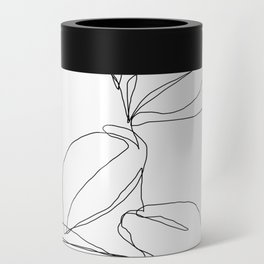 One line minimal plant leaves drawing - Berry Can Cooler