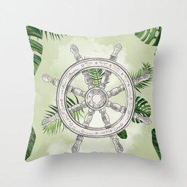 Tropical Wheel Throw Pillow