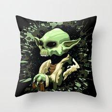 Skull Yoda Jedi Master  Throw Pillow