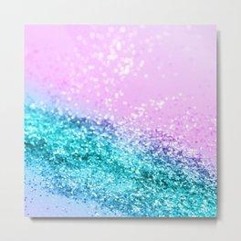 Summer Unicorn Girls Glitter #1 #shiny #decor #art #society6 Metal Print