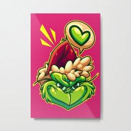 Green Humbug Metal Print