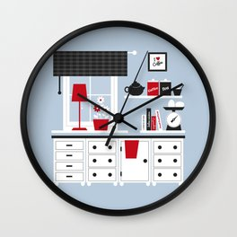 I love coffee Wall Clock