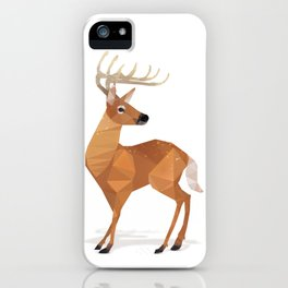 Low Poly White- Tailed Deer iPhone Case