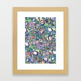 Flower Explosion Framed Art Print