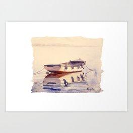 Barque à Thonon Art Print
