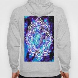 Mandala : Bright Violet & Teal Galaxy Hoody