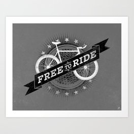 Free To Ride Art Print