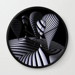 mirrored globs in OpArt-design Wall Clock