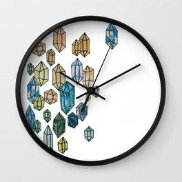 Watercolor Crystals Wall Clock