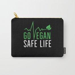 Go Vegan Safe Life | Veganism Gift Idea Carry-All Pouch