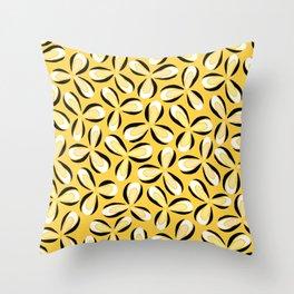 Yellow Star Flowers Throw Pillow