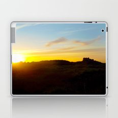 Winter sunset in Bamburgh Laptop & iPad Skin
