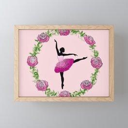 Floral dancer Framed Mini Art Print