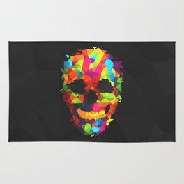 Meduzzle: Colorful Geometry Skull Rug