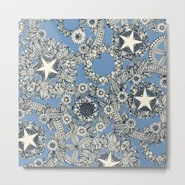 cirque fleur blue Metal Print