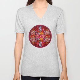 """Rose Huipil Embroidered"" Unisex V-Neck"