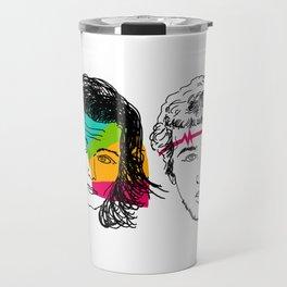 Daft Punk portrait Travel Mug
