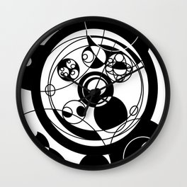 """Rain"" in black and white Wall Clock"