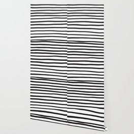 Black and white marker lines Wallpaper