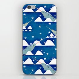 Sea unicorn - Narwhal blue iPhone Skin