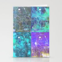 squirtle Stationery Cards featuring Squirtle Squad by pkarnold + The Cult Print Shop