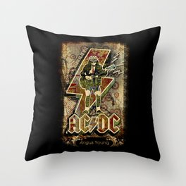 AC/DC angus young Throw Pillow