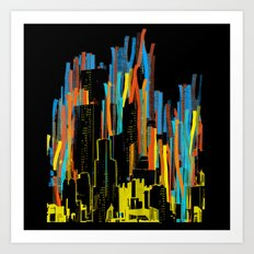 strippy city Art Print
