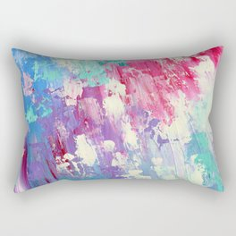 Pink and Blue Abstract Rectangular Pillow