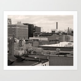 Ann Arbor City Roofs Art Print