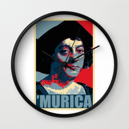 Christopher Columbus Murica Wall Clock